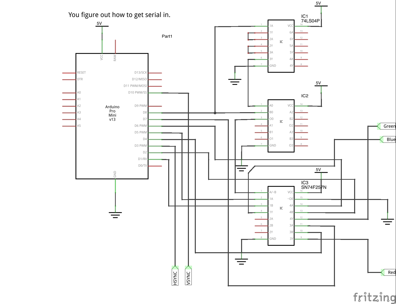 Schematic for 640x480 Arduino Video
