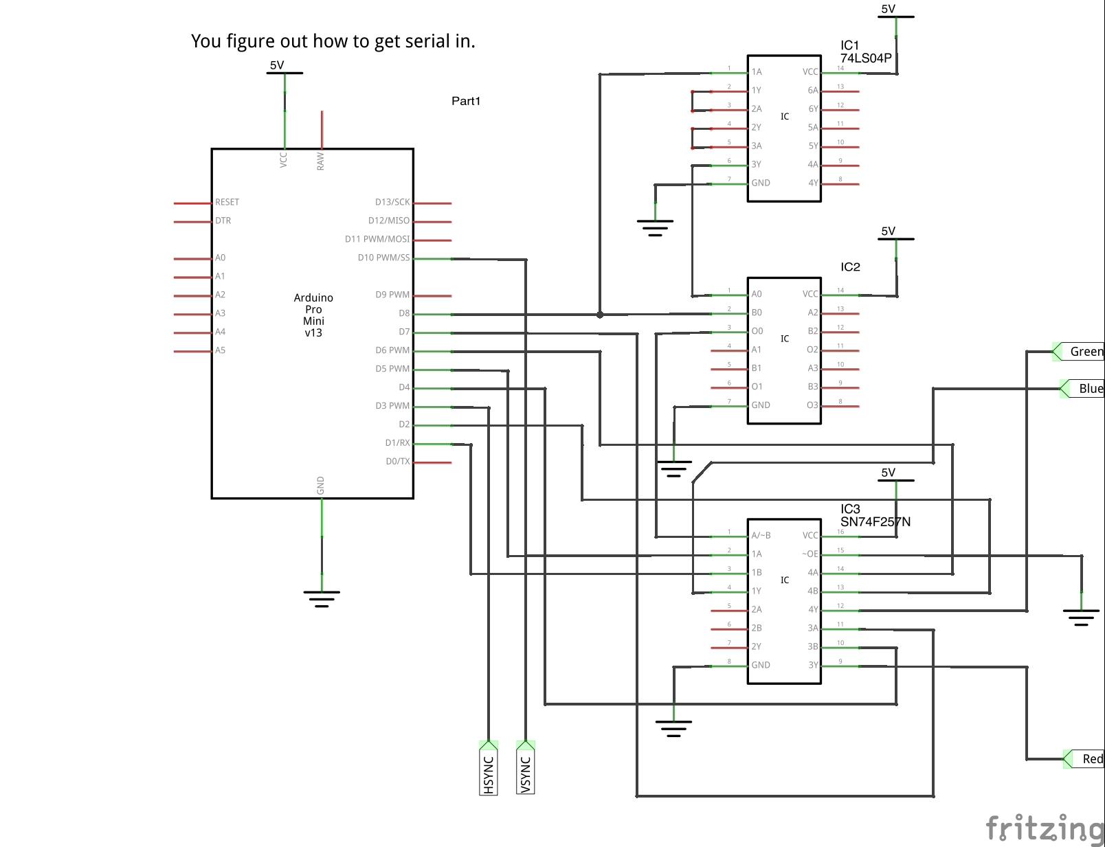 Schematic for 640x480 Arduino Video