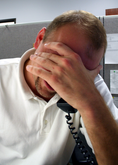 Workaholics: Picture of a stressed office worker