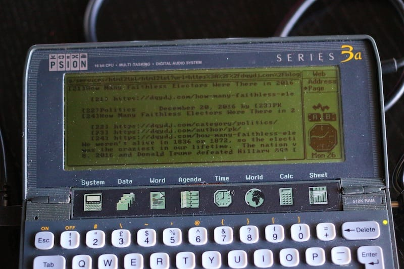 Psion Series 3a Loading DQYDJ's Blog overview