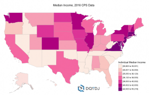 Median Income Per State, 2015, United States