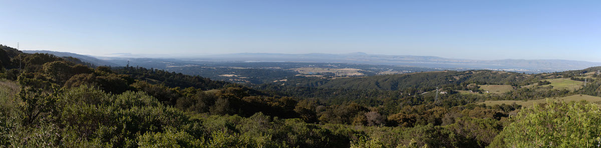 Silicon Valley shot from Skyline Road