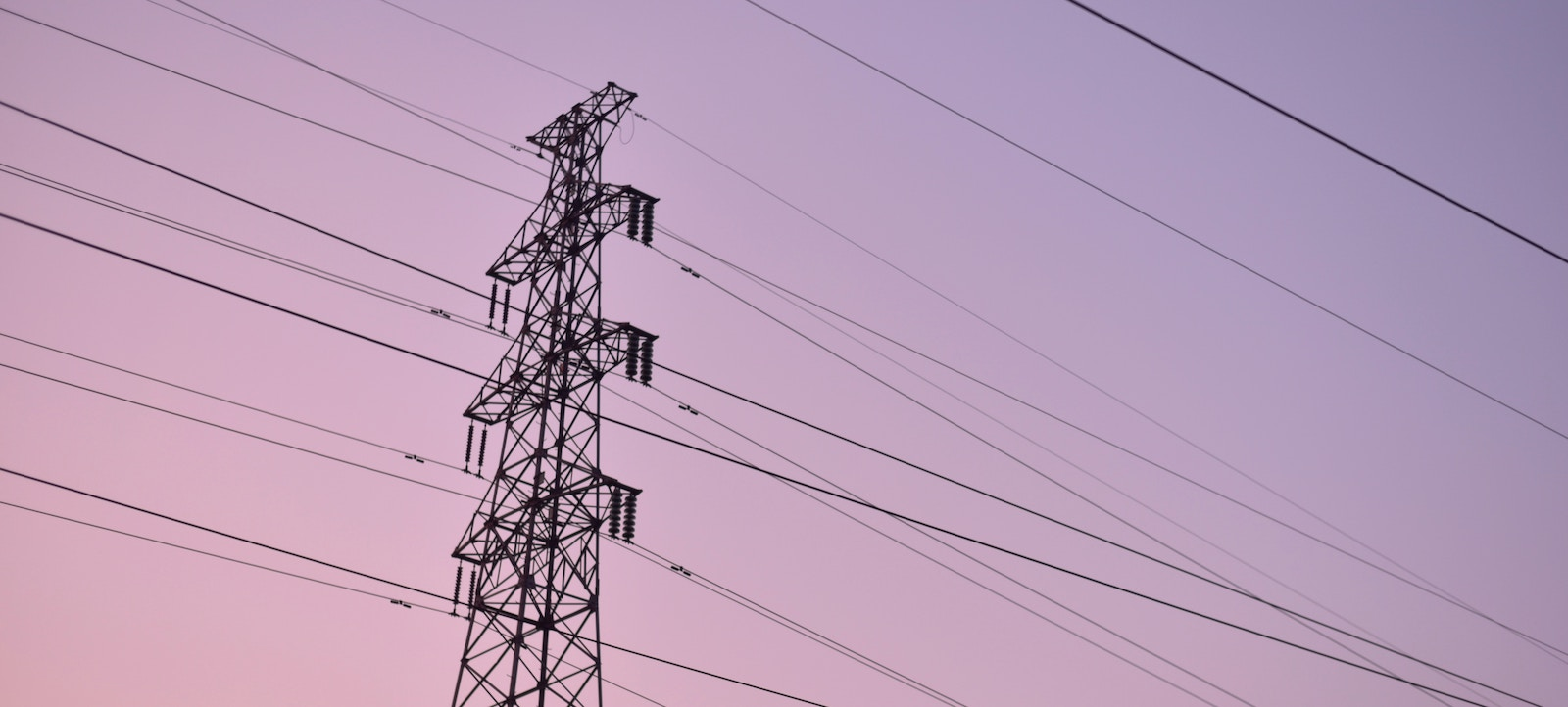 High tension lines carrying electricity