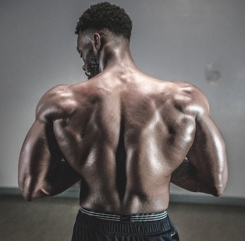 Man with strong back